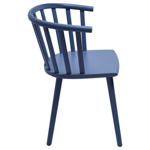 Blue Wooden Dining Chair