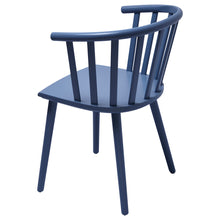 Load image into Gallery viewer, Blue Wooden Dining Chair