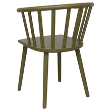 Load image into Gallery viewer, Green Wooden Dining Chair