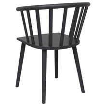 Load image into Gallery viewer, Black Wooden Dining Chair
