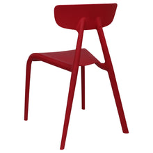 Load image into Gallery viewer, Red plastic garden chairs