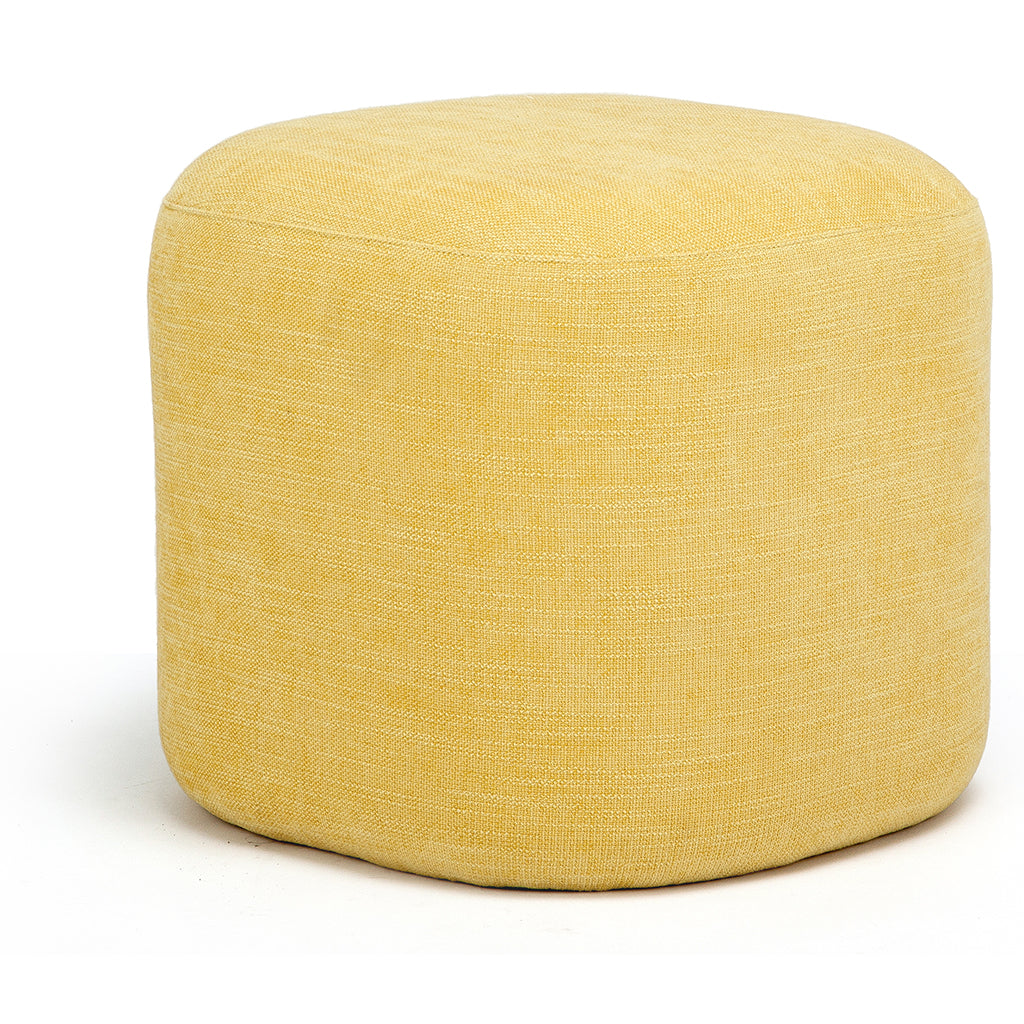Yellow Cosy Comfortable Puffet