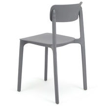 Load image into Gallery viewer, Grey Plastic Dining Chairs