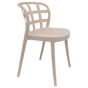 Beige outdoor chairs