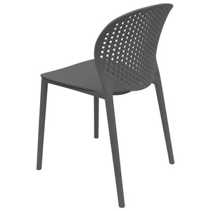 black garden chairs