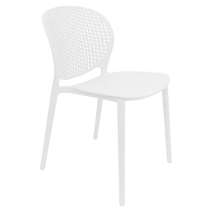 white garden chairs