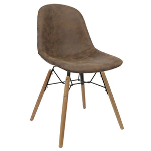 Brown Upholstered Dining Chairs