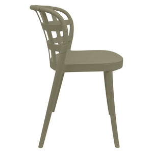Brown outdoor chairs