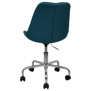 blue office chairs upholstered