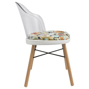 clear retro dining chairs uk