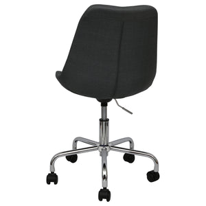 black office chairs upholstered