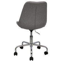 Load image into Gallery viewer, grey office chairs upholstered