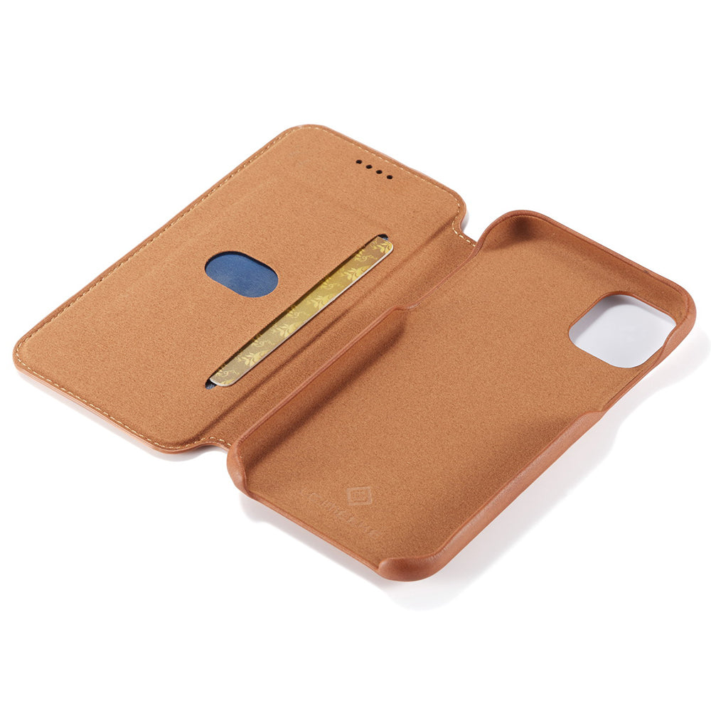 Coque folio design cuir pour iPhone 11