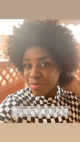 Sydney Nicole Hair Short Afro Lace Front Wig (Purchase at SydneyNicoleHair.com)