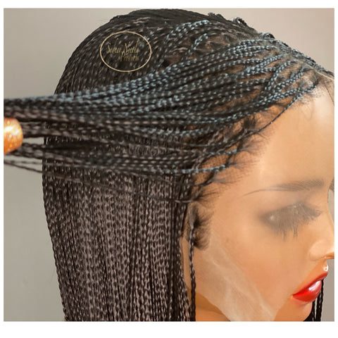 Micro Knotless Box Braid Lace Front Wig