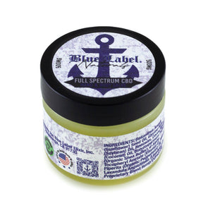 BLUE LABEL ELIXIR | Peppermint CBD Hand & Body Salve - 500MG CBD Topical Cream Blue Label Elixir