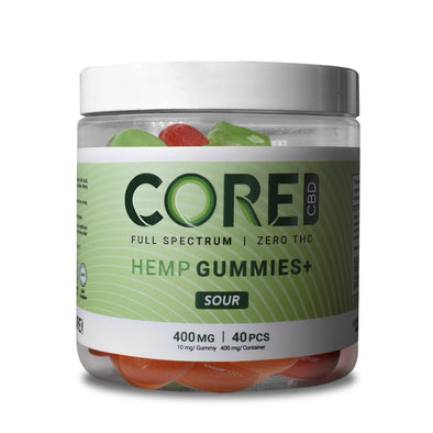 CORE CBD | CBD Gummies Sour 400MG CBD Gummies CORE CBD