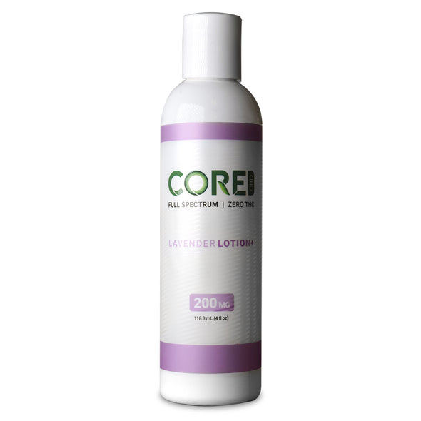 CORE CBD | Lavender Body Lotion 200MG CBD Topical Cream CORE CBD