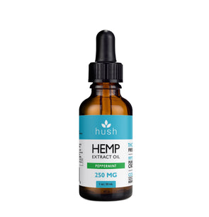 HUSH | Hemp Extract Oil Peppermint 250MG CBD Oil Hush CBD
