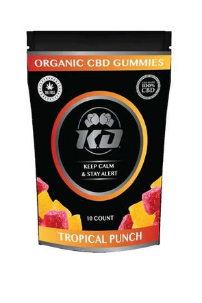 Knock Out | CBD Gummy Squares Tropical Punch 100MG CBD Gummies Knock Out