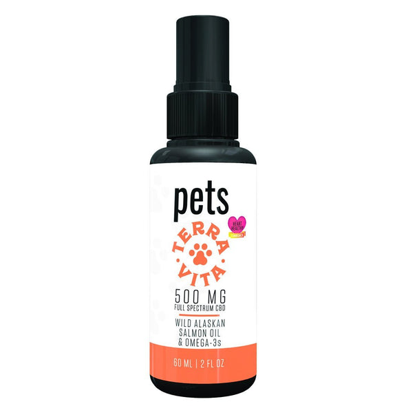 TERRAVITA | Pets Spray 500MG 60ML CBD For Pets TERRAVITA
