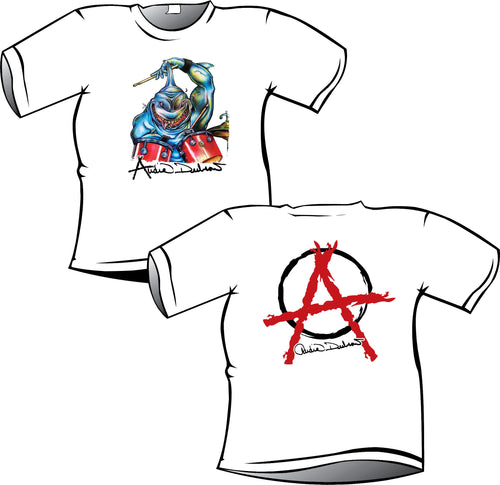 Audie Shark Anarchy T Shirt