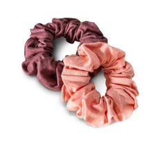 Load image into Gallery viewer, Plastic Free, Organic Hair Scrunchies - Coral Rose