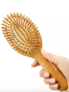 Bamboo Plastic Free Hairbrush - With Wooden Pins