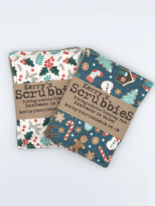 Christmas Biodegradable Cleaning Pads x 2
