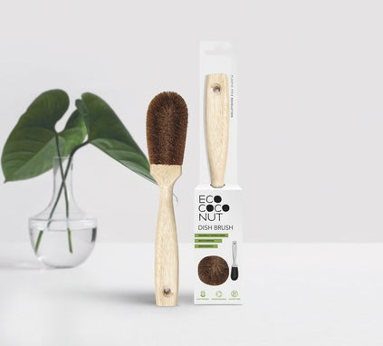 Coconut Fibre Dish Brush with Handle