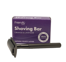 Load image into Gallery viewer, Reusable Safety Razor + Shaving Bar Kit