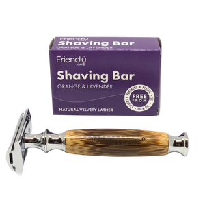Bamboo Safety Razor + Shaving Bar Kit