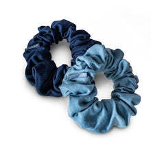 Load image into Gallery viewer, Plastic Free, Organic Hair Scrunchies - Blue