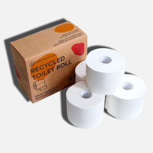 100% Recycled Toilet Paper - 3 Ply - Pack of 4