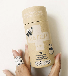 Biodegradable Plasters - Panda print with Coconut Oil