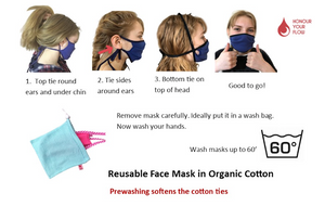 Reusable face mask - Pack of 2