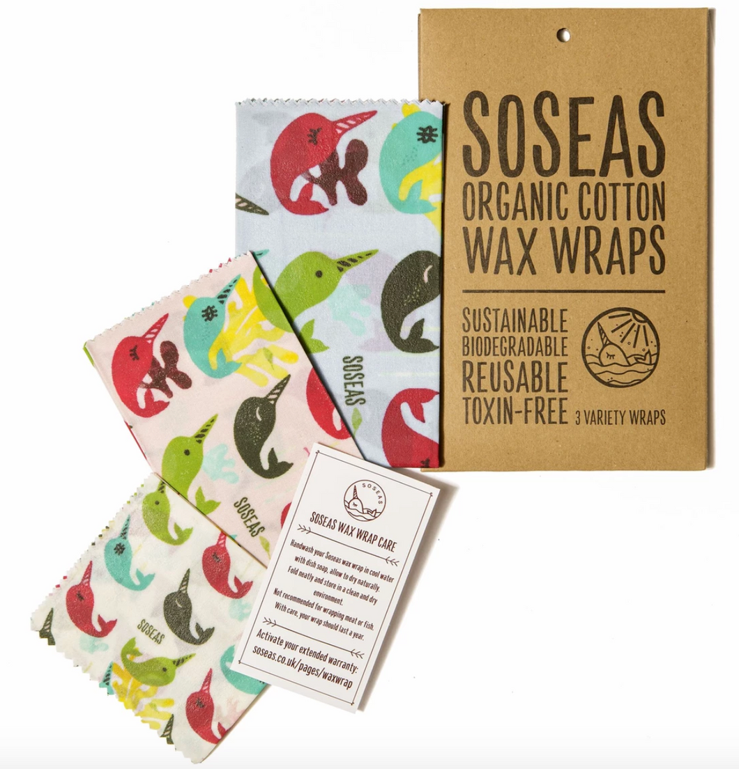 Narwhal Wax Wraps - Pack of 3