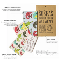 Load image into Gallery viewer, Narwhal Wax Wraps - Pack of 3