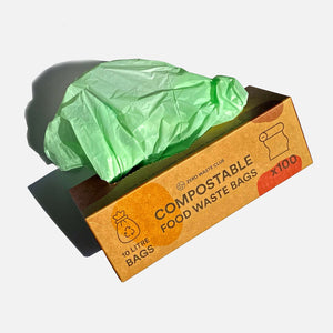 Compostable Bin Bags - Pack of 100 - 10 Litre Bags