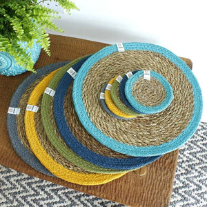 Round Seagrass & Jute Tablemats