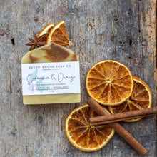Load image into Gallery viewer, Cinnamon and Orange Natural Soap Bar