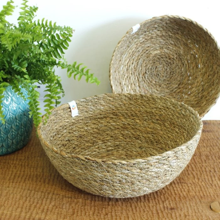 Natural Seagrass Storage Bowls