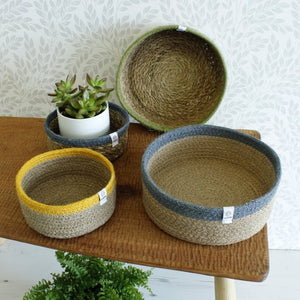 Shallow Jute Basket - Medium