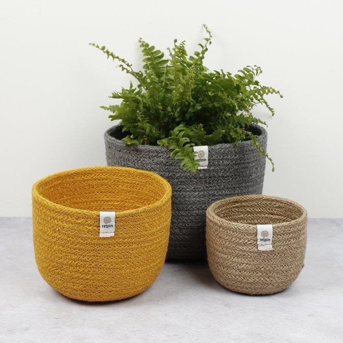 Tall Jute Basket Set, Beach - Plants & Storage