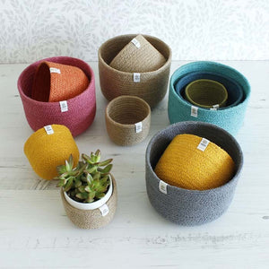 Tall Jute Basket Set - Plants & Storage