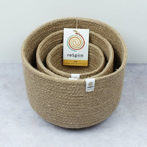 Jute Basket Set - Plants & Storage