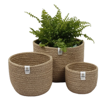 Load image into Gallery viewer, Jute Basket Set - Plants & Storage