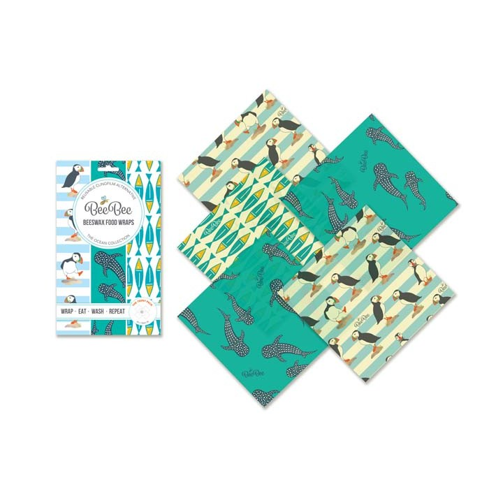 Ocean Family Beeswax Teeny Wraps - Pack of 5