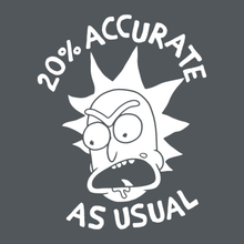 Load image into Gallery viewer, 20% Accurate- Rick and Morty Unisex Tshirt