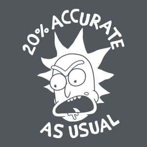 20% Accurate- Rick and Morty Unisex Tshirt